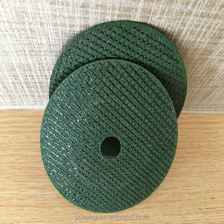 Green double nets abrasive cutting wheel for stainless steel
