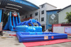 2017 Large Inflatable water slide with pool