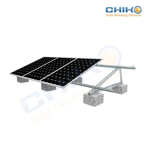 Adjustable solar pv mounting triangular / racks / brackets for flat roof