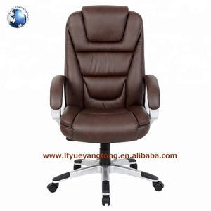 Best seller 2018 usa boss swivel rolling executive full grain leather office chair