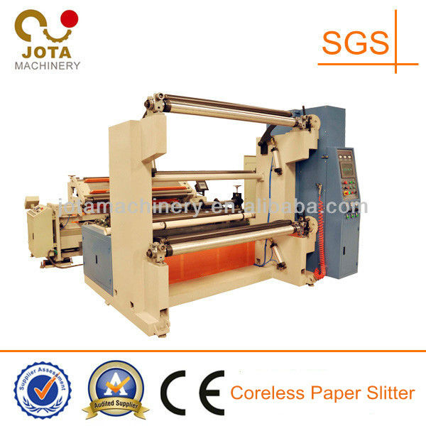 Double Rewinding Shafts Double Motor Control Automatic Paper and Film Rewinder, Paper Reel Slitting Machine,Roll to Roll Cutting