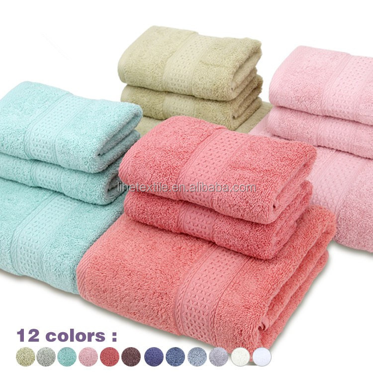 100% Cotton Luxury Various Plain Color Towel For Bathroom Towel