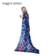 Women's 100%polyester Long Scarf For Gift Hair Ladies Shawls Floral And Butterfly Scarves