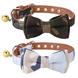 Wholesale Fashion and Adjustable Pet Accessories Bow tie Cat Collar Dog Collars