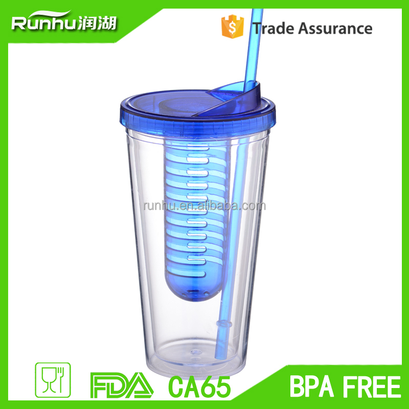 best product 2015 juice canned drink plastic <strong>cups</strong> with lid and straw