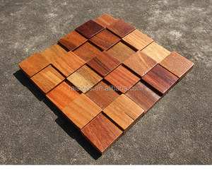 3d teak wood mosaic from china factory ,best price and shipping fastly