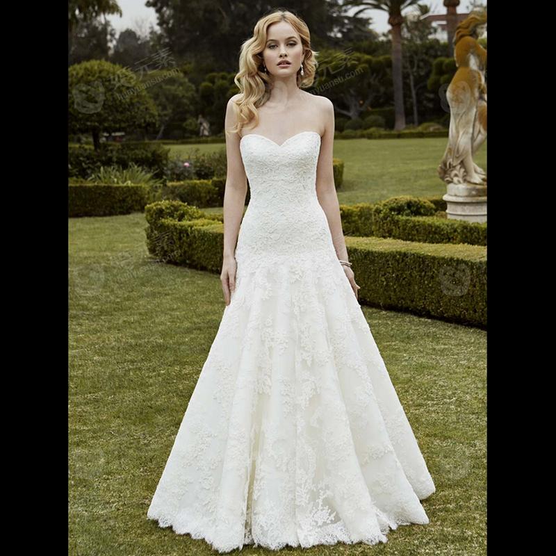 Vestido De Noiva Renda Vintage Lace Princess Wedding Dress: 012 Vestido De Noiva Renda 2015 Romantic Strapless Vintage