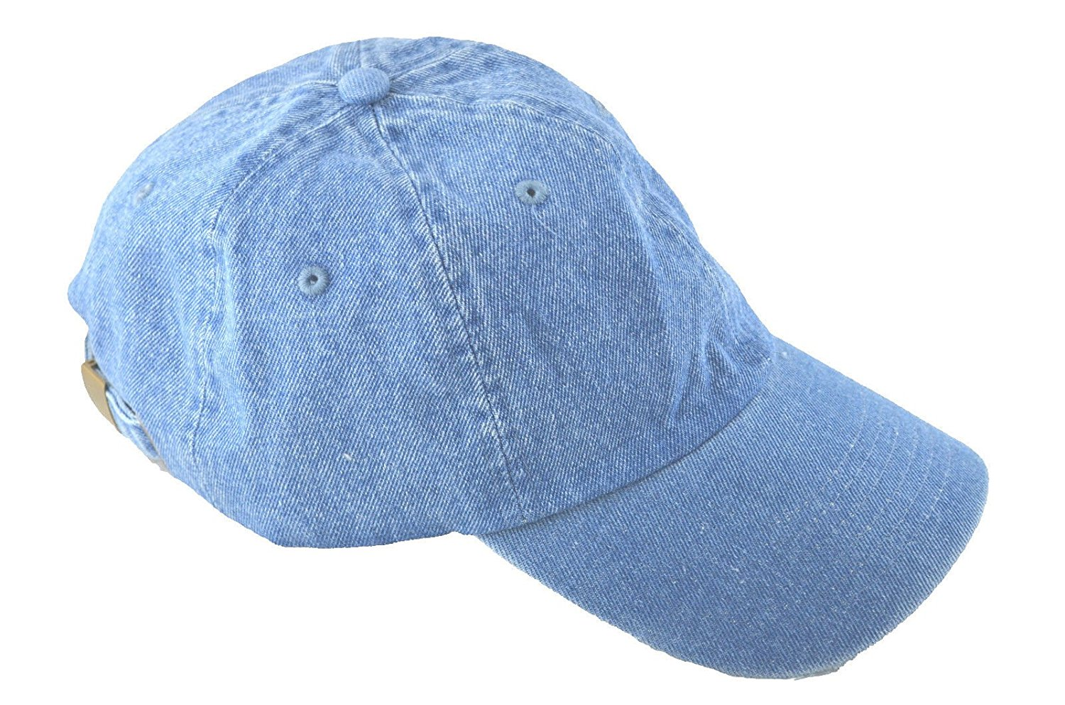 NH Men's Polo Style Adjustable Unstructured Low-profile Baseball Cap Denim Jean