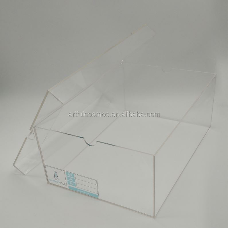 White/Black Acrylic Rotating Display Stand For Christmas/Tree/Indoor Ladies Clear Shoes Acrylic Shoe Slide Boxes