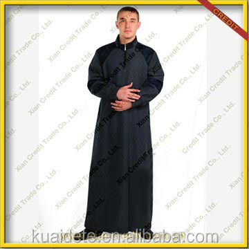 Arabic Islamic Thobe Muslim Men's thobe thoub thaub thawb men's abaya wholesale KDT526 with lowest price