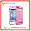 [UPO] Luxury Shockproof Aluminum Frame Metal Bumper Acrylic Back Cover Case for iPhone 4 4s 5 5s SE