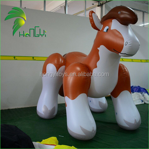 Hongyi Animal Brown Cartoon Character PVC Short Fat Interesting Horse for Sale