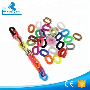 Hot selling plastic single link chain in shiny color