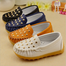 baby rivet leather shoes children boys girls Cow Muscle bottom Doug shoes Toddler shoes for 1