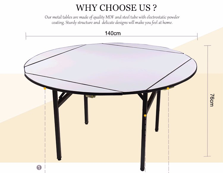 Banquet Round Folding Table For 10 People Buy Banquet