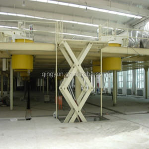 Stationary cargo hydraulic platform scissor lift