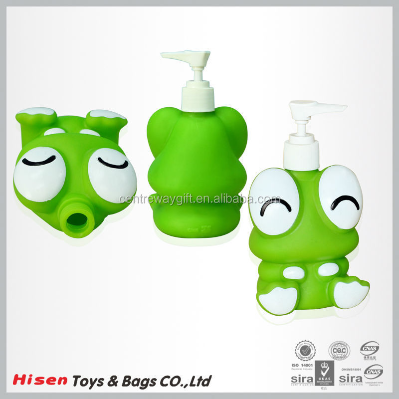 Frog shap fashion easy to carry,easy to use ,plastic soap botles