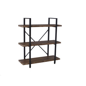 Modern rustic wood book shelf unit cube