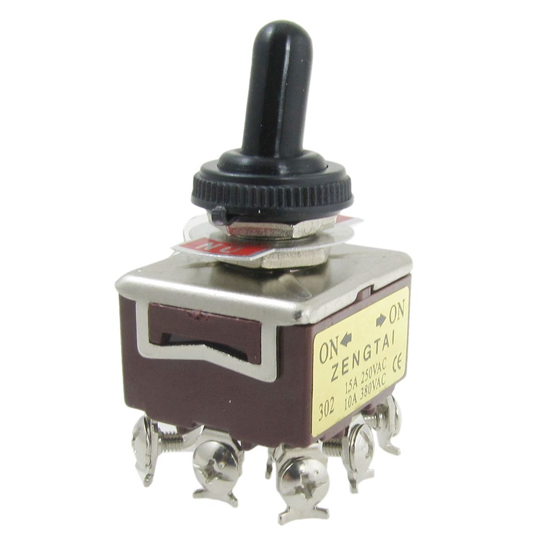 uxcell® AC 250V 15A 380V 10A on/on 2 Position 3PDT Toggle Switch with Waterproof Cap