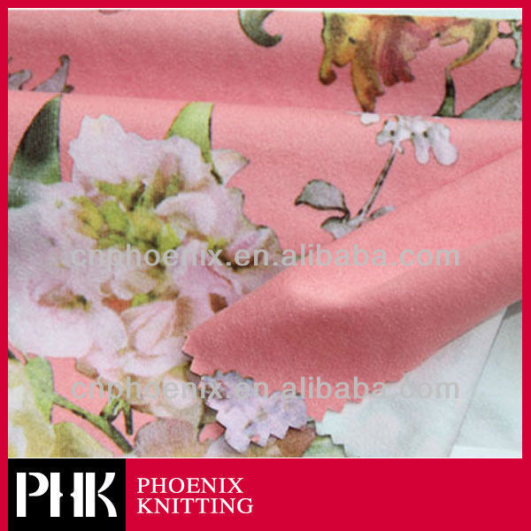 Paper Printed Suede Knit Fabric for dressmaking