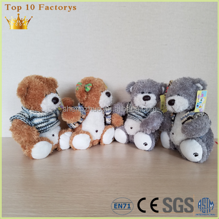 Wholesale Customise Vivid singing musical plush teddy bear in hoodie