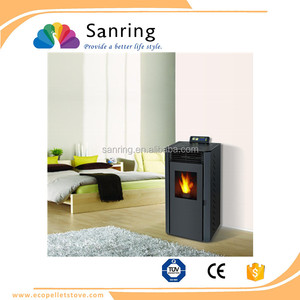 9 KW output wood pellet stove with ceramics igniter