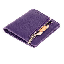 Модный мини-кошелек, женские кошельки из натуральной кожи, женский кошелек на молнии с застежкой, тонкий кошелек с держателем для ID-карты, да...(Китай)