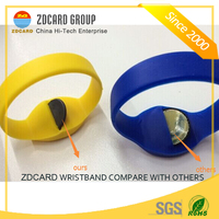 OEM RFID Silicone Wristband Bracelet for Ticketing