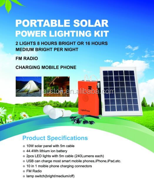 10 w mini kits de panneaux solaires pour la maison hors r seau syst me d 39. Black Bedroom Furniture Sets. Home Design Ideas