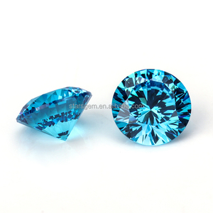 Loose gemstone 2.25mm aqua blue star cut zircon stone round brilliant