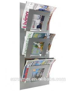 Wall Mounted Multifunction Office Furniture Newspaper Rack Magazine Holder