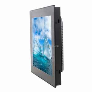 DVI VGA HDMI USB touch screen LCD monitor 12.1 inch for CNC industrial control display Capacitive touch monitor