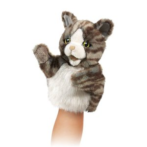 2014 new design cat hand puppet, cat hand puppet toy