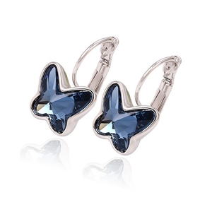 29150 xuping hot sales beautiful crystals from Swarovski butterfly hoop earrings designs