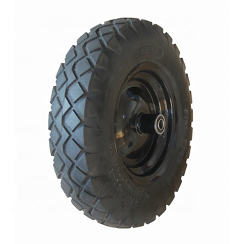 REACH Certification Polyurethane Flat Free Tire With Ribbed Pattern