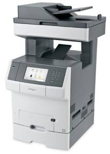 """Government Lexmark X748dte Color Laser MFP (35 ppm) (1.2 GHz) (512 MB) (8.5"""" x 14"""") (2400 x 600 dpi) (Max Duty Cycle 100000 Pages) (p/s/c/f) (Duplex) (Ethernet) (USB) (Energy Star) (1100 Sheet Input Tray) (100 Sheet Multipurpose Tray) (50 Sheet ADF) (Heav"""