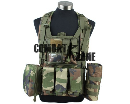 High Quality 1000D Durable Nylon Military Tactical Combat Amphibious Molle RRV Scout Vest Olive Drab/Woodland Camo Free Shipping