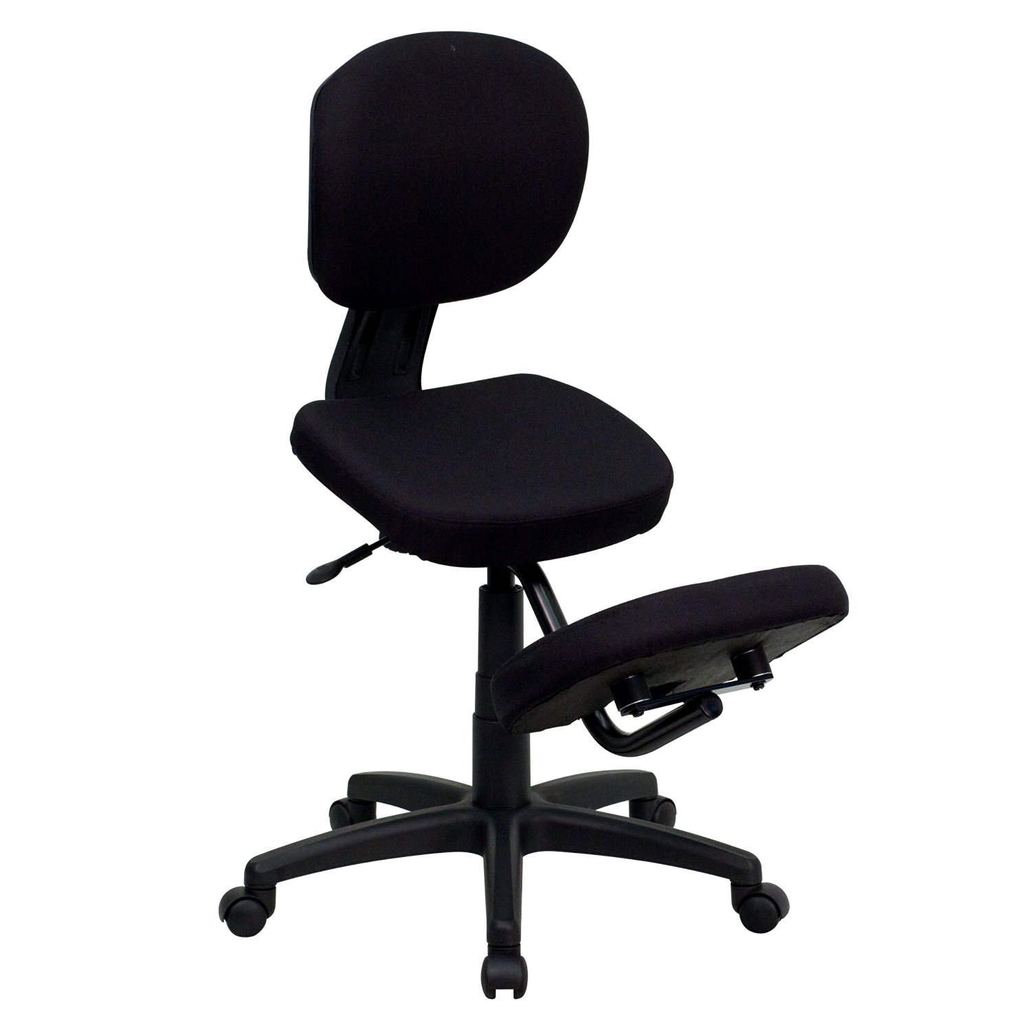 My Friendly Office MFO Mobile Ergonomic Kneeling Posture Task Chair in Black Fabric with Back