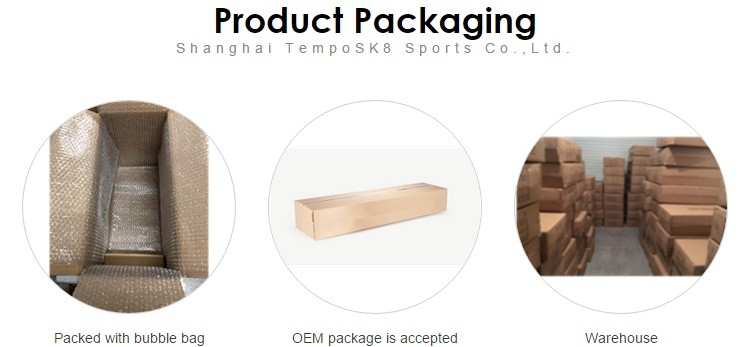 TempoSK8 OEM Blank 100% Canadian Maple Complete Wood Skateboard