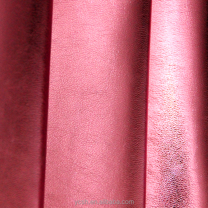 Factory wholesale metal feeling PVC artificial <strong>leather</strong>