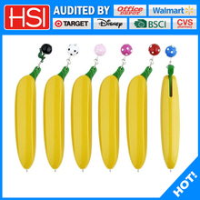 stationery promotional machinery banana shaped ball pen with pendant