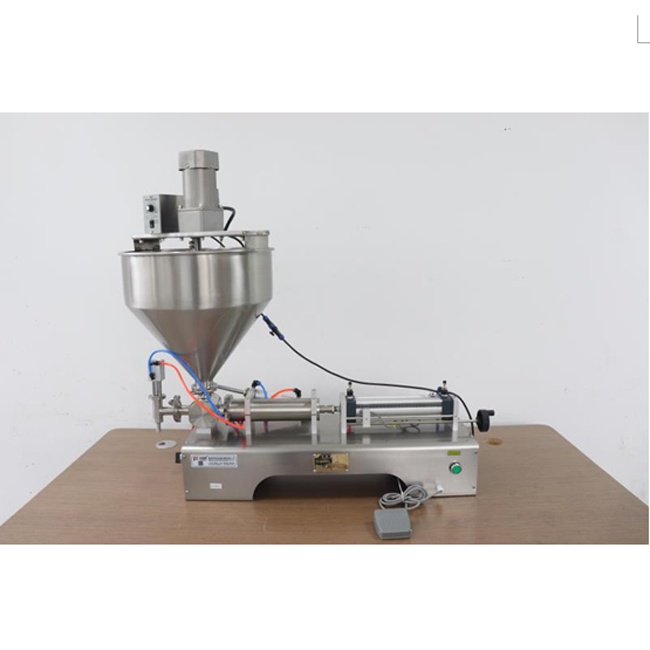 Best price Pneumatic piston 500ml semi-auto cream cheese paste filling machine for honey stick or peanut butter