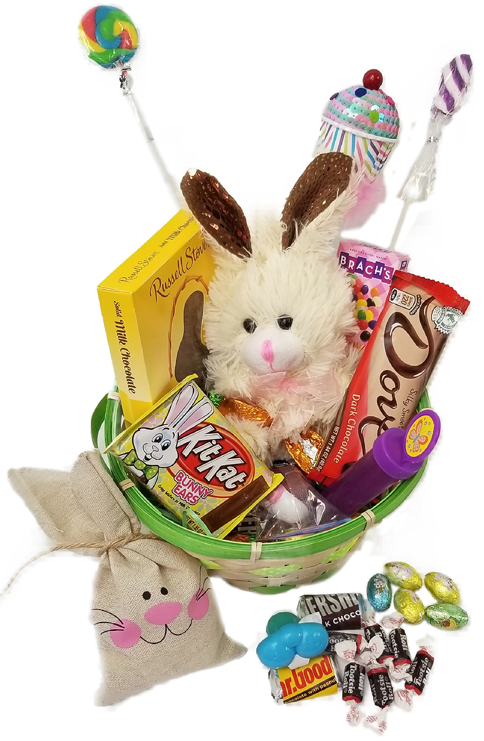 Cheap easter gifts chocolate find easter gifts chocolate deals on get quotations lots of chocolate easter basket for kids and adults chocolate scented stuffed bunny fun negle Images