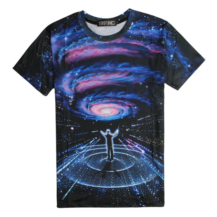 caa9efcbd Get Quotations · man t shirt summer 2015 tshirt casual clothing short sleeve  3d t-shirt galaxy Concert