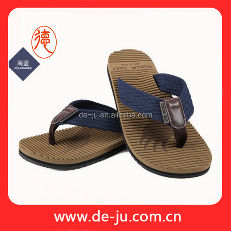 Summer Slipper Canvas Upper Flip Flop Straps