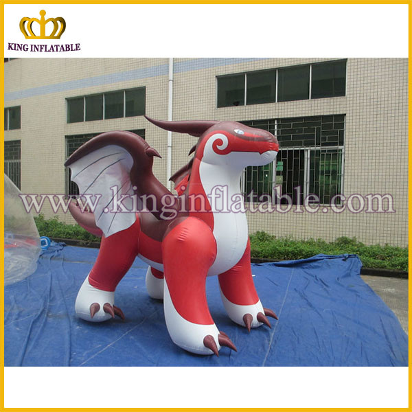 2016 new inflatable dragon, advertising red inflatable dragon, flying dragon replica