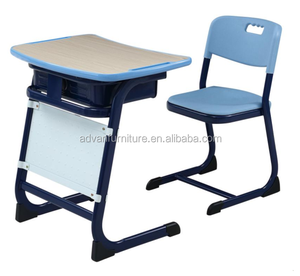used school furniture classroom student desk with panel