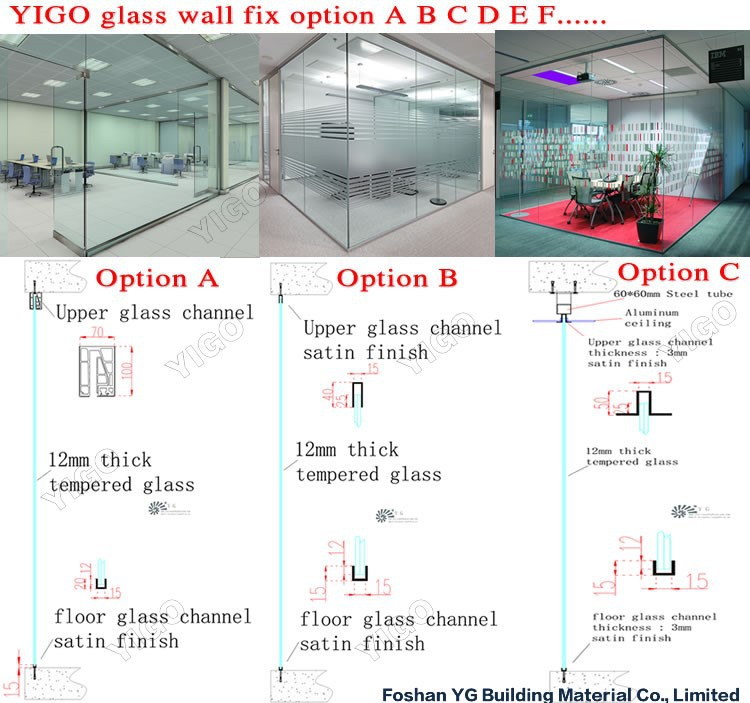glass wall prices, View glass wall prices, YiGo Product Details from Foshan  Yigo Hardware Limited on Alibaba com