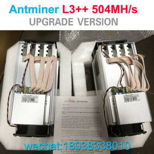 2018 Bitmain Antminer L3++ 504MH/s ASIC Litecoin Miner with APW3++ Power Supply bitcoin miner