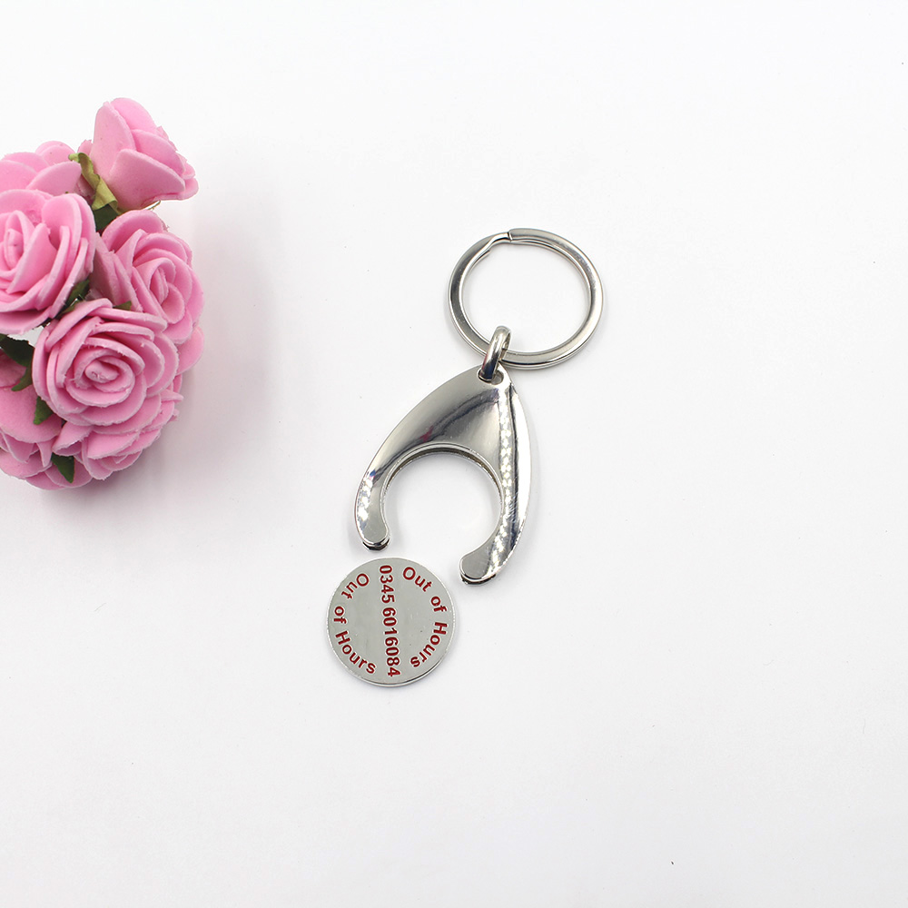 Wholesale shopping cart token keychain gift custom for  shopping market